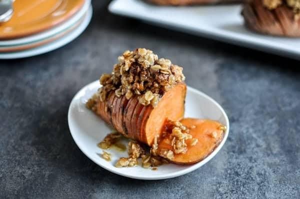 RecipeTin Eats ESSENTIALS | Hasselback Potatoes - 5 Takes | Cinnamon Sugar Sweet Potato Hasselback Potatoes with Cookie Crumble