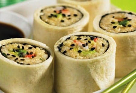 24 Things To Make With Tortillas: Tortilla Wrapped Sushi