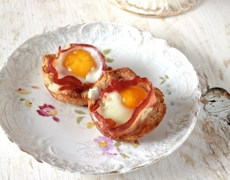 Bacon & Egg Toastcups - by TheNoshery.com