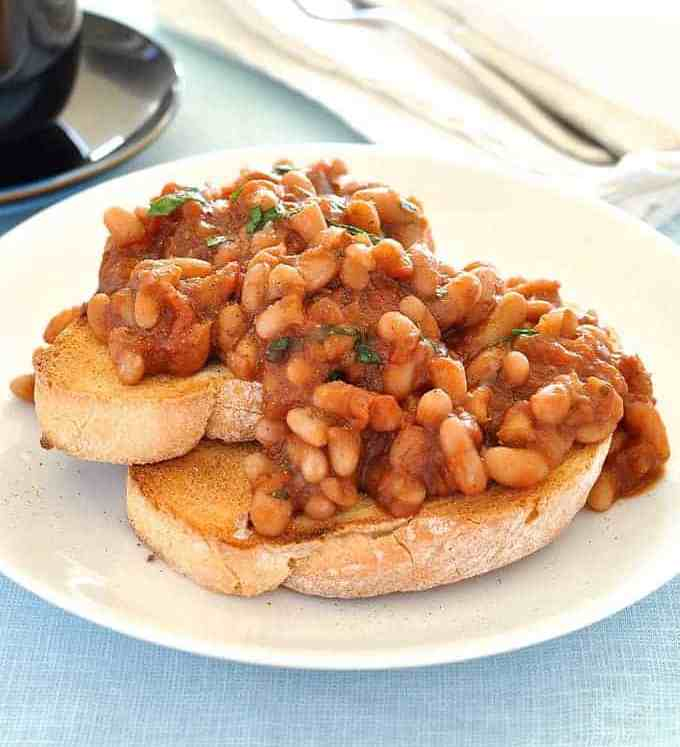 Homemade Baked Beans (Vegan, Veg) - easy, special recipe with a great depth of flavour, healthy (very little oil is used).