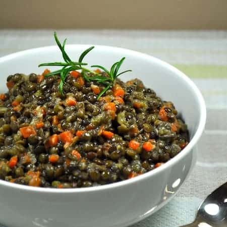 Easy Classic Lentils - 10m prep for these tasty lentils, as good as a side or as a main, warm or cold!