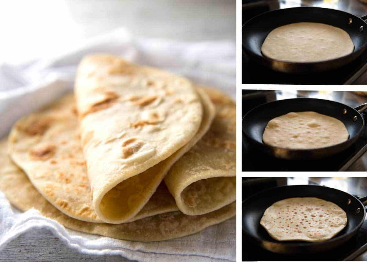 Easy soft flatbread recipe no yeast recipetin eats this flatbread recipe is made without yeast yet is soft and pliable and wonderfully moist forumfinder Gallery