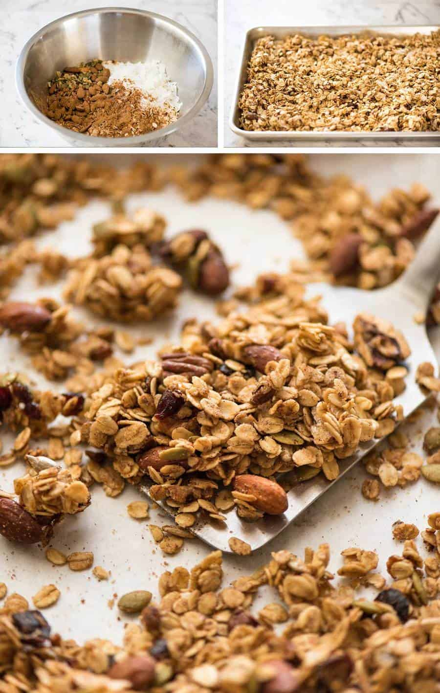 The Ultimate Guide - Build Your Own Healthy Homemade Granola, loose or CLUMPY! recipetineats.com