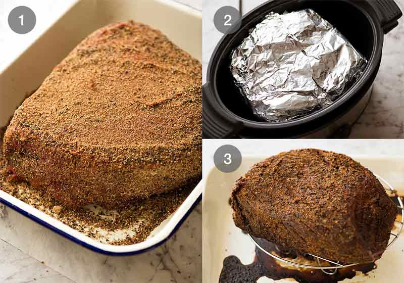 Preparation steps for how to make pastrami