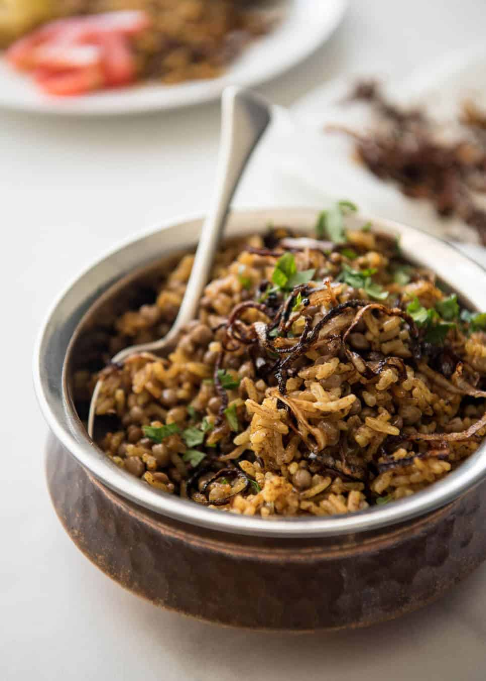 Middle eastern spiced lentil and rice mejadra recipetin eats mejadra a aromatic middle eastern rice and lentil pilaf a recipe by yotam ottolenghi forumfinder Choice Image