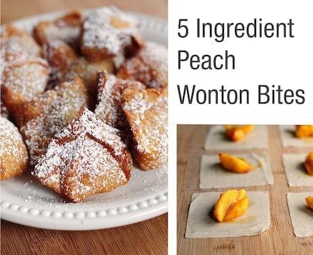 Peach Wontons