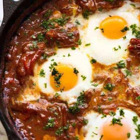 Shakshuka (Middle Eastern Baked Eggs)