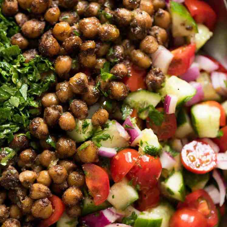 This may very well be the best chickpea salad you ever have in your life. Thank you Yotam Ottolenghi. recipetineats.com