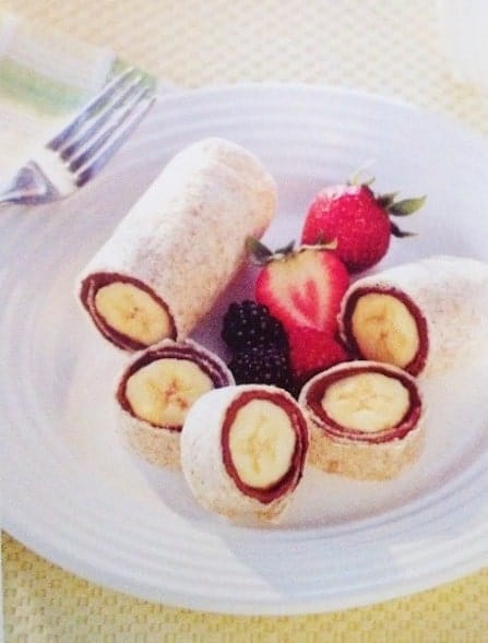 24 Things To Make With Tortillas: Nutella Banana Roll Up