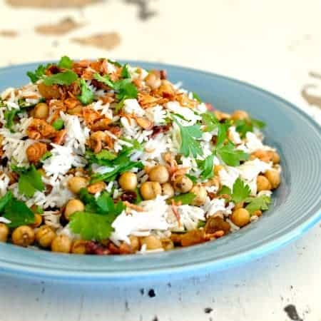 Middle Eastern Chickpea Pilaf - delicately fragrant, and only ...