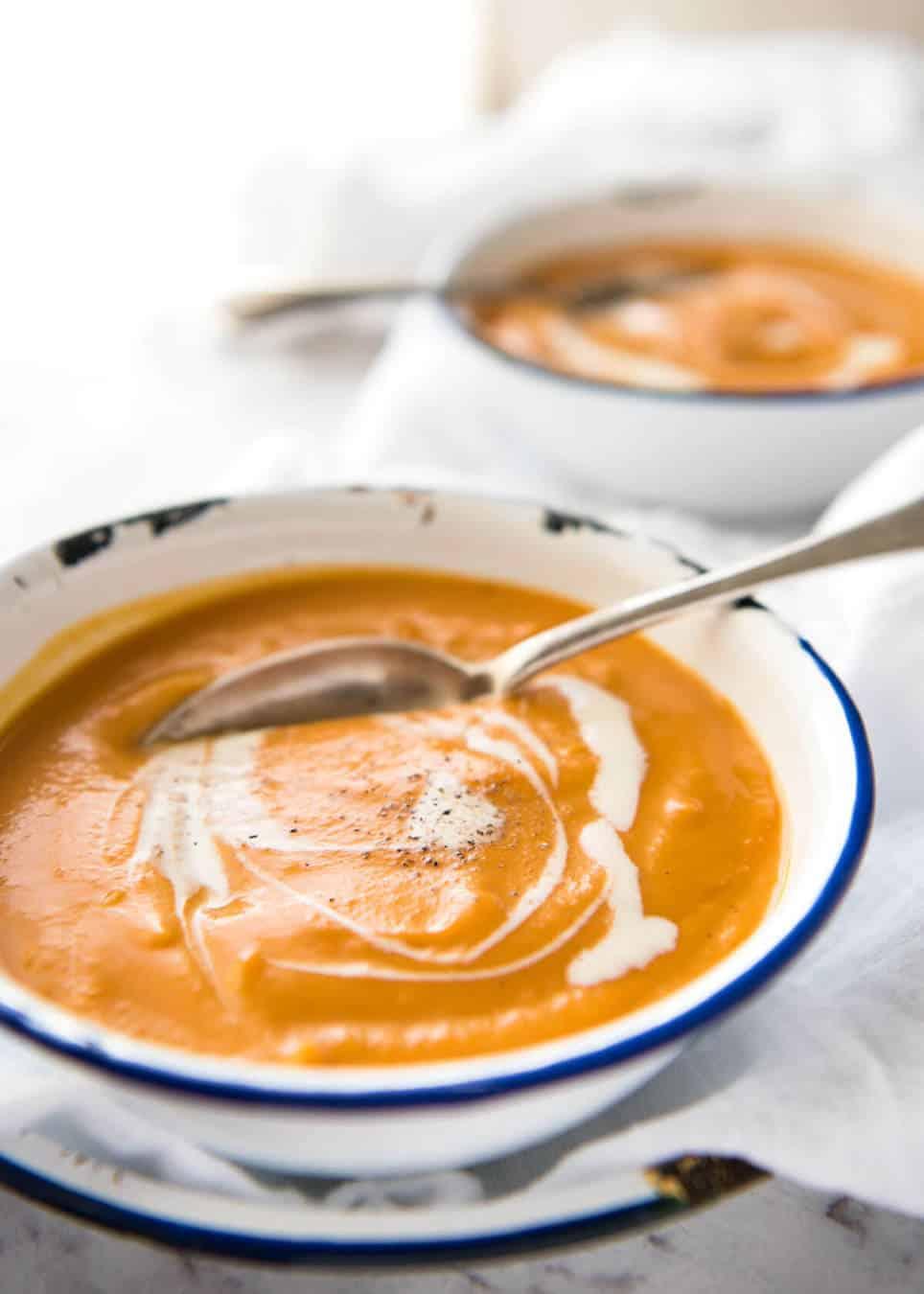 Classic Easy Pumpkin Soup Recipetin Eats