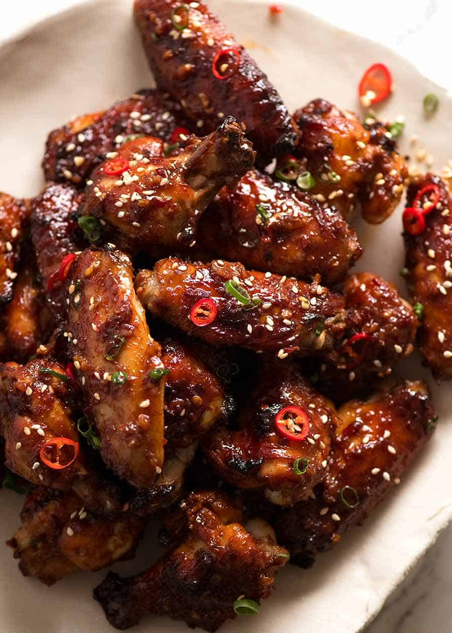 Sticky Baked Chinese Chicken Wings Recipetin Eats