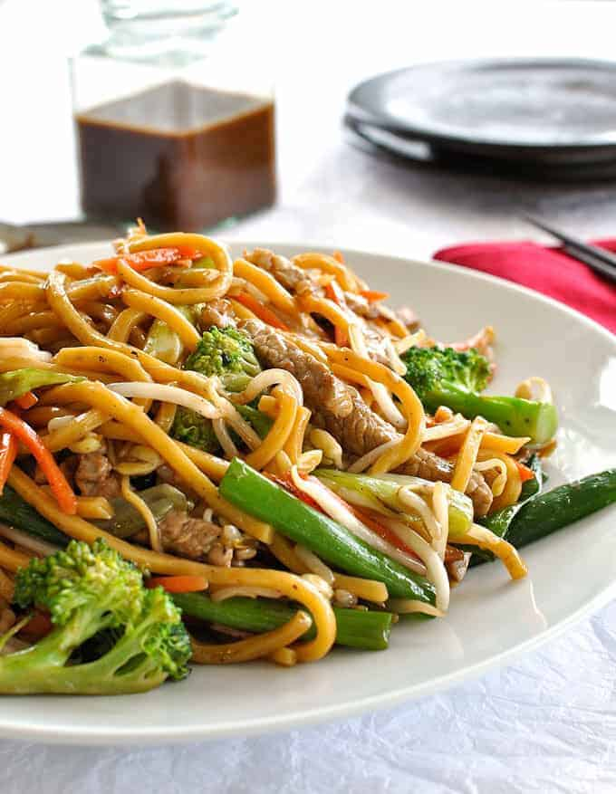 noodles stir fry fried chinese recipe asian noodle sauce own recipes build meal meals vegetables guide spaghetti thai minute chicken