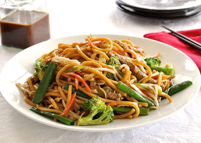 Guide to make your own stir fried noodles plus my secret Real Chinese All Purpose Stir Fry Sauce. 15 minute meal!