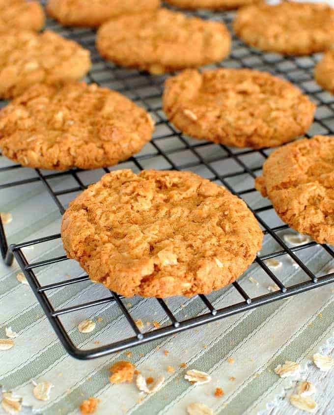 Anzac Biscuits (Golden Oatmeal Cookies) | RecipeTin Eats