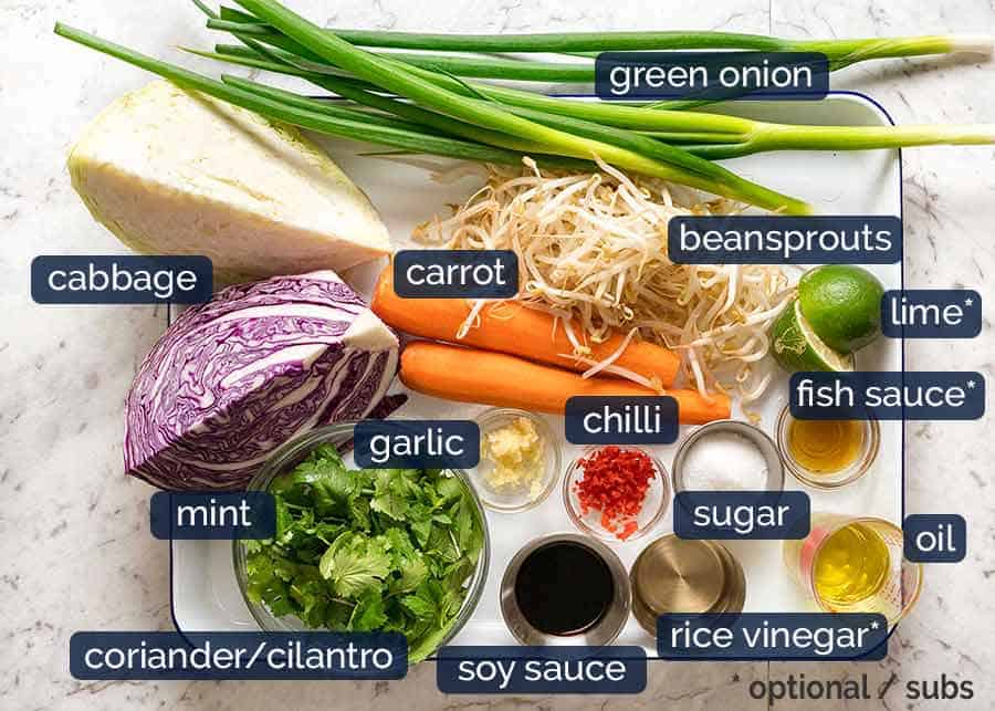 What goes in Asian Slaw