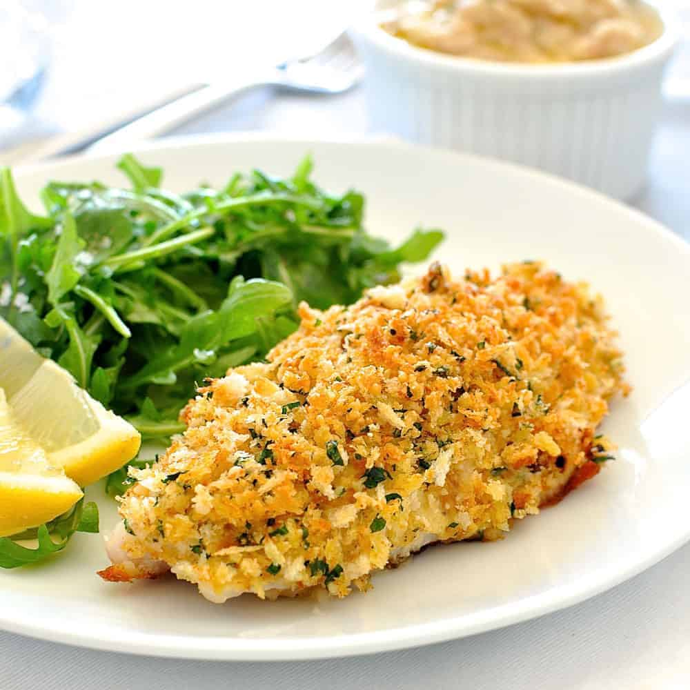 Healthy Parmesan Garlic Crumbed Fish Recipetin Eats
