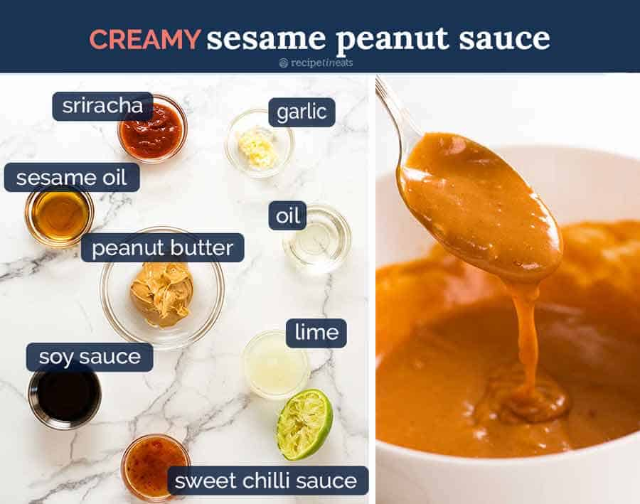 Creamy Asian Sesame Peanut Dressing