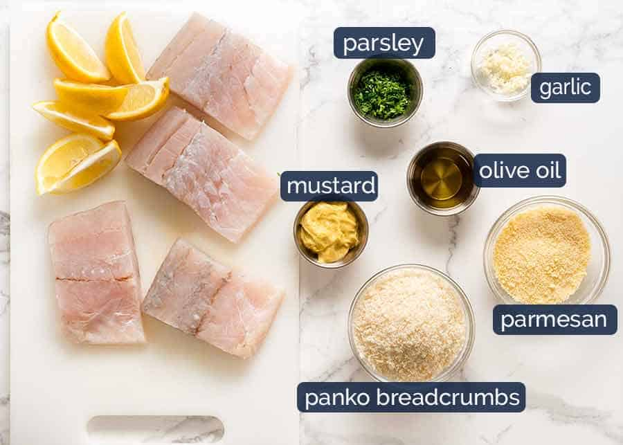 Ingredients for super easy fish recipe