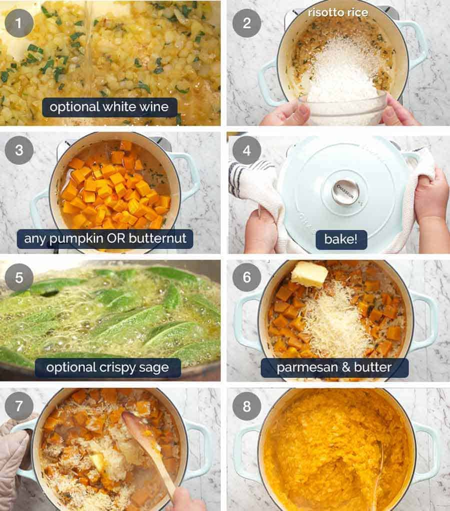 How to make Baked Pumpkin Risotto