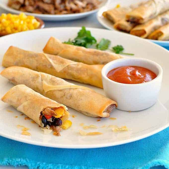 A great Mexican appetizer, so easy to make and unbelievably delicious! #egg roll