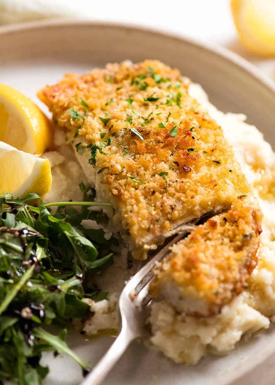 Emergency Easy Fish Recipe Parmesan Crumbed Fish Recipetin Eats
