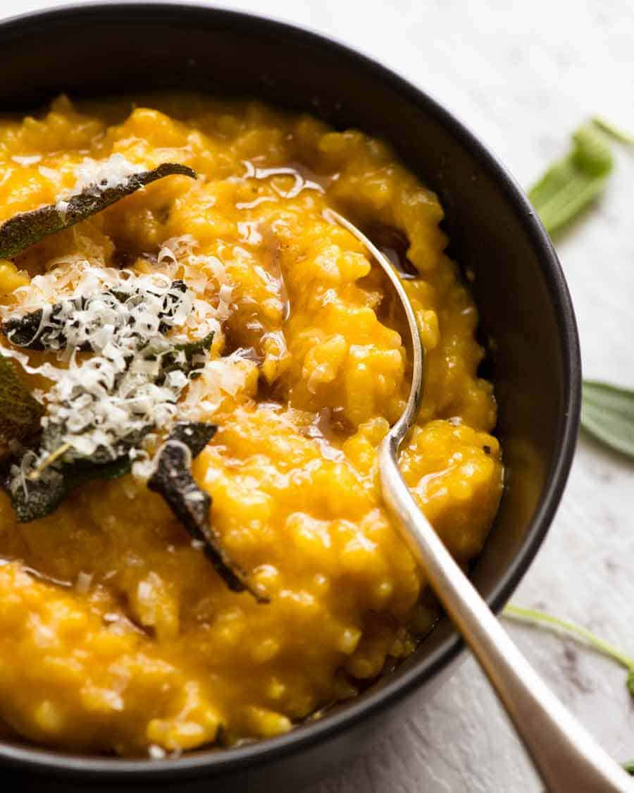 Creamy Baked Pumpkin Risotto Recipetin Eats