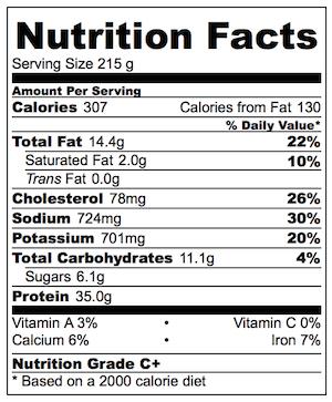 Salmon Soy Mirin Nutrition