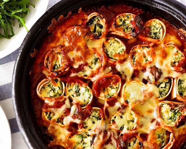 Spinach and Ricotta Rotolo via RecipeTin Eats (recipe linked)