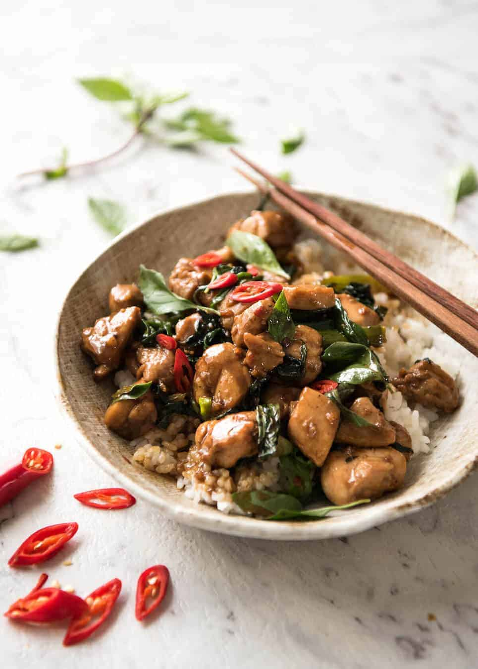 Thai chilli basil chicken recipetin eats an authentic thai chilli basil chicken recipe just like what you get from the best forumfinder Choice Image