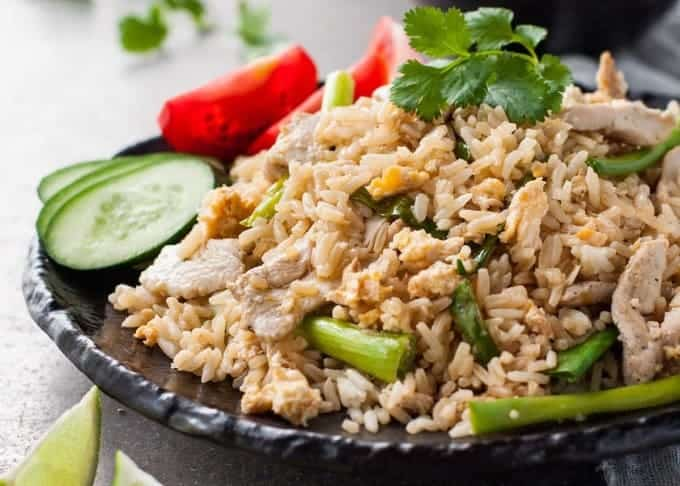 Real Thai Chicken Fried Rice - just like you get in Thailand and from Thai restaurants! www.recipetineats.com