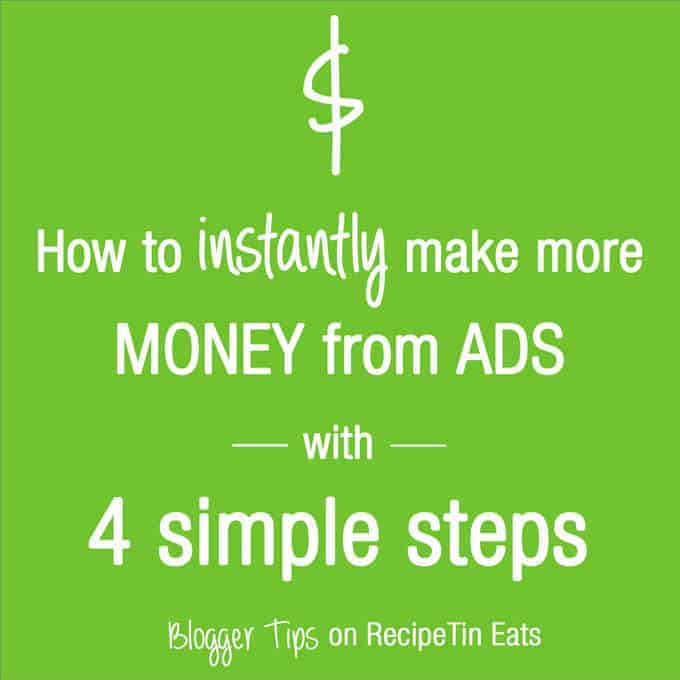 4 simple steps to instantly start earning more ad revenue from your blog or website.