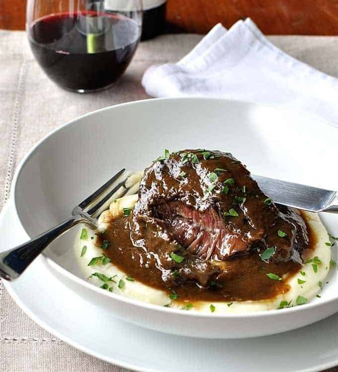 These slow cooked beef cheeks are meltingly tender! Easy to make, braised in a luscious red wine sauce. www.recipetineats.com