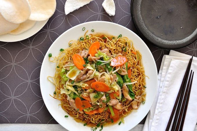 Crispy chinese noodles with chicken recipetin eats forumfinder Images