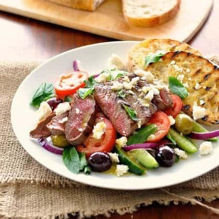 Quick Fix Greek Lamb and Salad Dinner