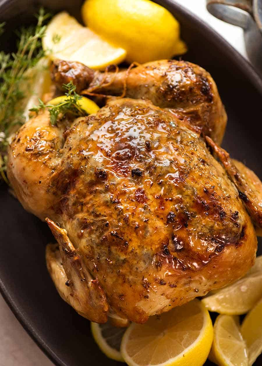 Cooking whole bbq chicken in oven