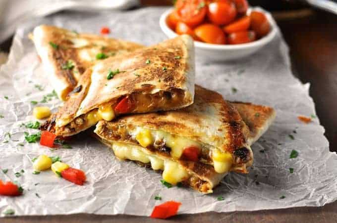 Pulled Pork Carnitas Quesadillas with Caramelized Onions ...