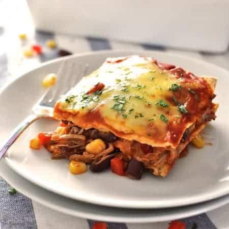 Mexican Lasagna Enchilada Stack
