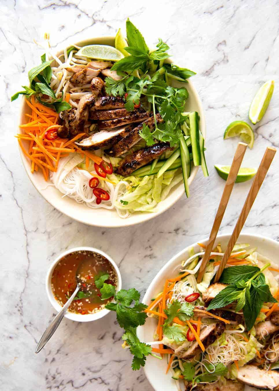 Vietnamese Noodles with Lemongrass Chicken | RecipeTin Eats