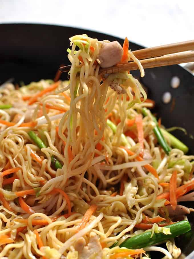 Chinese noodles chow mein