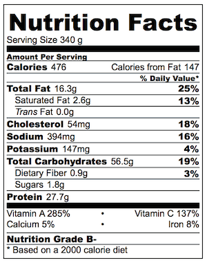 Crispy Shredded Chicken Noodle Stir Fry Nutrition