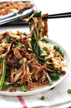 Crispy Shredded Chicken Noodle Stir Fry