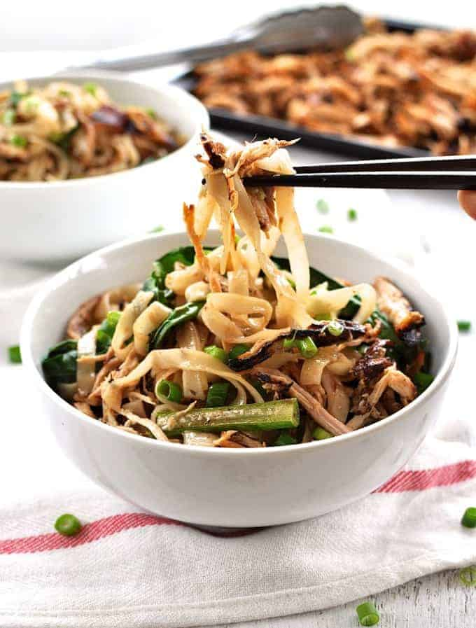 Crispy Shredded Chicken Noodle Stir Fry Recipetin Eats