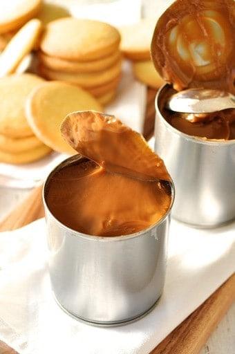 Cans of Slow Cooker Caramel (Dulce de Leche)