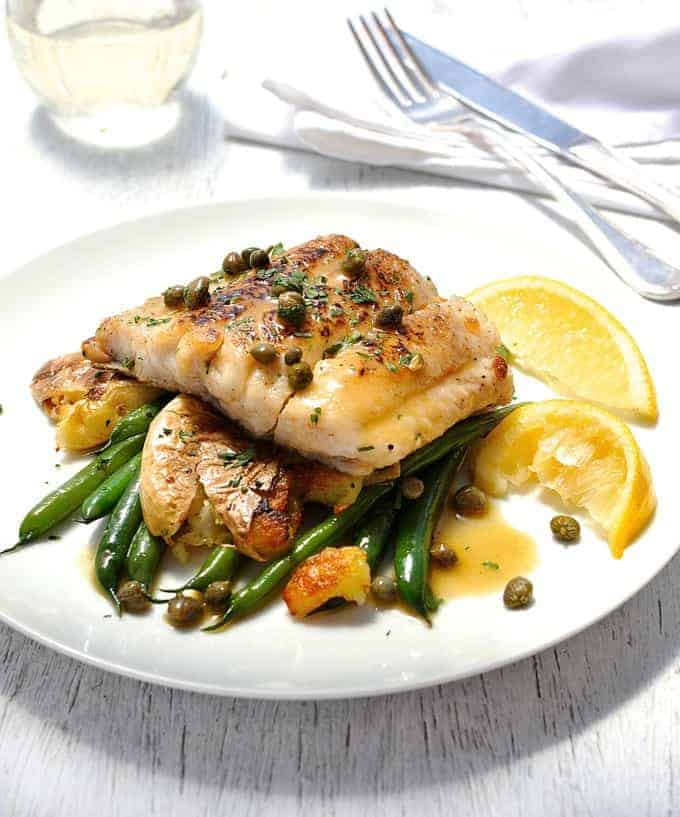 Fish Piccata With Crispy Smashed Potatoes (15 Minute Meal) | RecipeTin ...