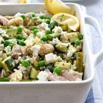 Chicken and Green Vegetable Pilaf - one pot complete meal loaded with green veggies. #one_pot #rice #pilaf