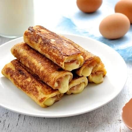 Ham & Cheese French Toastie Roll Ups
