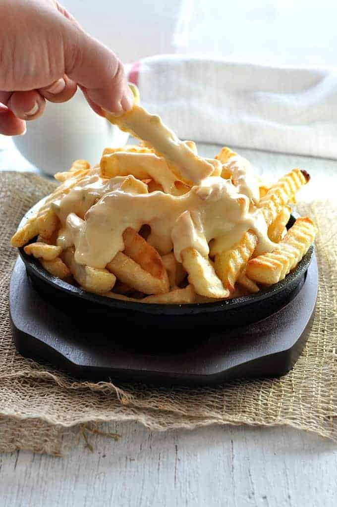 Cheese Sauce For Cheese Fries And Nachos Recipe — Dishmaps