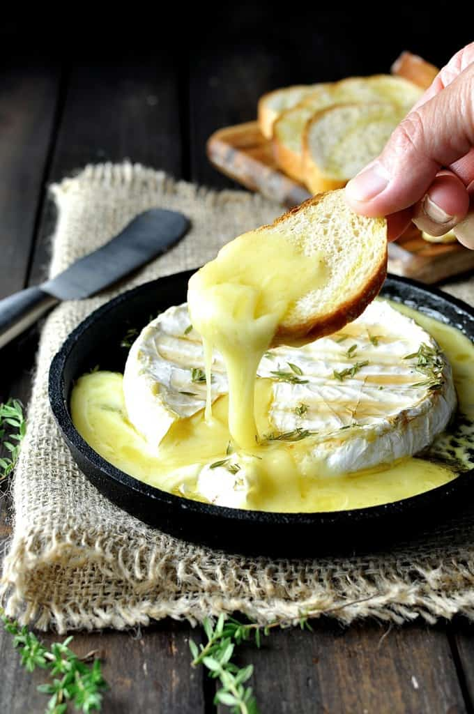 Baked Brie with Maple Syrup and Thyme - this is how to turn a good value brie into a spectacular brie / fondue / cheese dip.