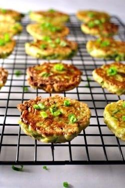 Chinese Zucchini Pancake Bites